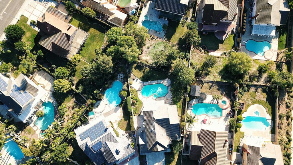 aerial view of tampa area